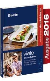 Gutscheinbuch Berlin 2016 gültig ab sofort bis 01.12.2016 - 1