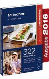 Gutscheinbuch München & Umgebung 2016 14. Auflage - gültig ab sofort bis 31.01.2017 - 1